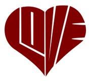 miłości typografia Fotografia Stock