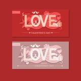 Miłości typografia również zwrócić corel ilustracji wektora Obraz Stock
