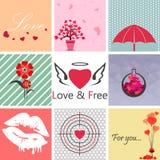 Miłości Ustalona sztuka Zdjęcie Royalty Free