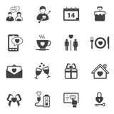 Miłości walentynki ikony set Fotografia Royalty Free