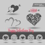 Miłości, walentynki ` s dzień, datowanie, romans i więcej, cieniejemy kreskowe ikony ustawiać, ilustracja ilustracja wektor
