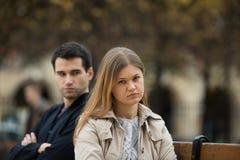 Miłości walka w Paryż zdjęcie royalty free