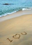 miłości wiadomość Fotografia Royalty Free