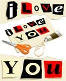 miłości wiadomość Obrazy Stock