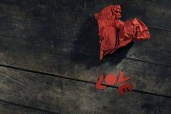 Miłości wiadomość Fotografia Stock