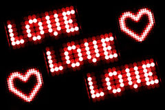 Miłości wiadomość Obraz Royalty Free