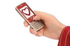 miłości wiadomość Zdjęcie Stock