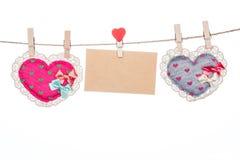 Miłości wiadomości karta, valentine dnia matki dnia kierowy kształt Obraz Royalty Free