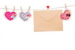Miłości wiadomości list, valentine dnia matki dnia kierowy kształt Obraz Royalty Free