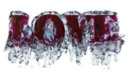 miłości woda Zdjęcie Stock