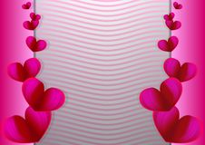Miłości zaproszenia karty walentynki ` s dzień Kocha kartka z pozdrowieniami projekt, miłości zaproszenia karty walentynki dnia a ilustracja wektor