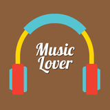 Miłośnik Muzyki Fotografia Stock