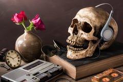 Miłośnik muzyki czaszka Obraz Stock