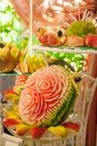 Miło dekorujący mięsny i owocowy wesele Obraz Stock