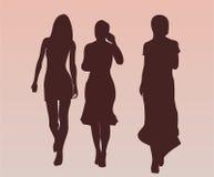 miły spacer ładne dziewczyny royalty ilustracja