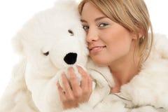 miś pluszowy niedźwiadkowa kobieta Fotografia Royalty Free