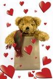 miś pluszowy niedźwiadkowi valentines Zdjęcia Royalty Free