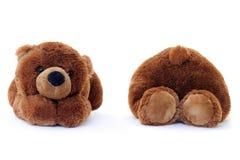 miś pluszowy niedźwiadkowy biel Zdjęcia Royalty Free