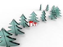 Mi árbol de navidad Fotografía de archivo libre de regalías