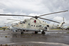 Mi-24 οπίσθιο ελικόπτερο Στοκ εικόνα με δικαίωμα ελεύθερης χρήσης