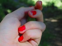 Mi χέρι στοκ εικόνες