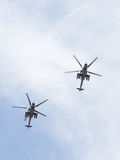 Mi-35 на параде победы Стоковое Изображение