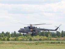 MI-8直升机,俄国空军队 库存照片