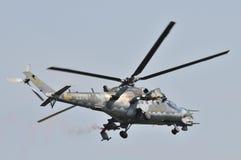 Mi35捷克空军队 库存图片