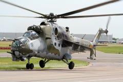 Mi-24 achterste aanvalshelikopter Royalty-vrije Stock Afbeeldingen