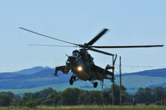 Mi-24 helicopter Stock Photography