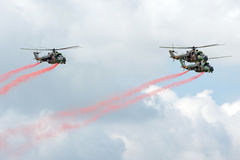 Mi-24 helicopters Stock Image