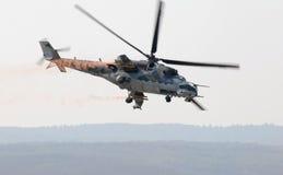 Mi-24V Hinterhubschrauber lizenzfreies stockbild