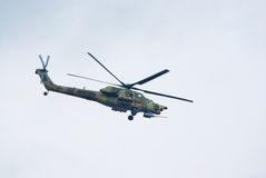 Mi-28N attack helicopter Stock Images