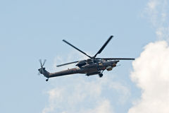 Mi-28N helicopter from Berkuty display team Royalty Free Stock Images