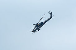 Mi-28N helicopter from Berkuty display team Royalty Free Stock Photography
