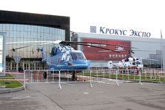 Mi-38 and Ka-32 in the HeliRussia 2011 Royalty Free Stock Photos