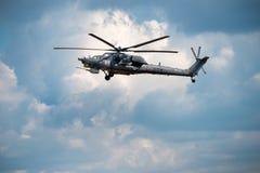 俄语空军队Mi28 免版税库存照片