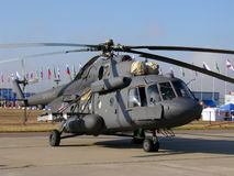 Mi-8 στρατιωτικό ελικόπτερο Στοκ εικόνα με δικαίωμα ελεύθερης χρήσης