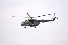 Mi-8 helicopter hovering Royalty Free Stock Images