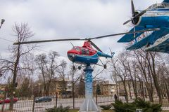 The MI-1 is a Soviet multi-purpose helicopter. The MI-1 according to the NATO classification: Hare is a Soviet multi-purpose helicopter, developed by the Mil royalty free stock photos