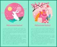 Mi Autumn Festival Poster Vector Illustration illustration libre de droits