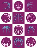 Simple Abstract Basketball Seam Designs vector illustration
