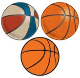 Red, White, and Blue and Orange Basketballs with Dimples royalty free illustration