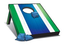 Bean Bag Toss Outdoor Game stock illustration