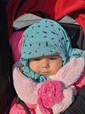Mi bebé en invierno Foto de archivo libre de regalías