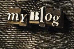 Mi blog foto de archivo libre de regalías