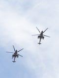 Mi-35 chez Victory Parade Image stock