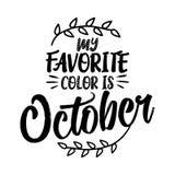 Mi color preferido es octubre stock de ilustración