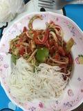 Mi comida tailandesa Imagen de archivo libre de regalías