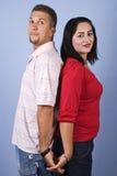 Mi couples adultes heureux Photo libre de droits